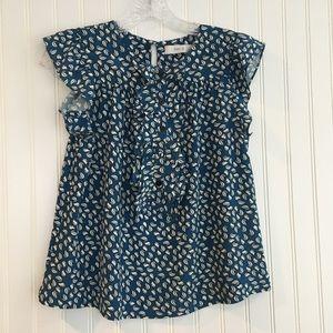 MAYLA  blue patterned top SIZE US 4
